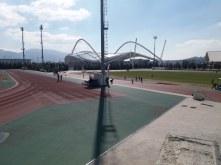 De atletiekpistes van het Olympisch Complex (O.A.K.A.)