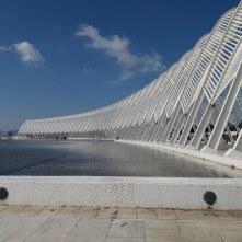 De promenade van het Olympisch Complex (O.A.K.A.)