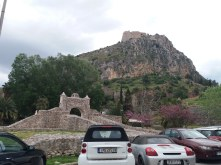 Zicht op de Palamidi-burcht, Nafplio